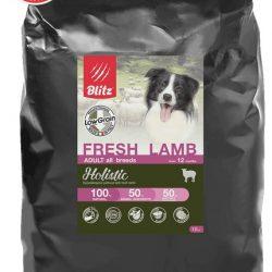 Blitz Holistic СВЕЖИЙ ЯГНЁНОК — низкозерновой сухой корм для взрослых собак всех пород